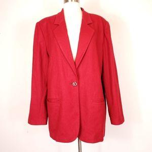 Vintage 100% wool Sag Harbor Notch collar blazer